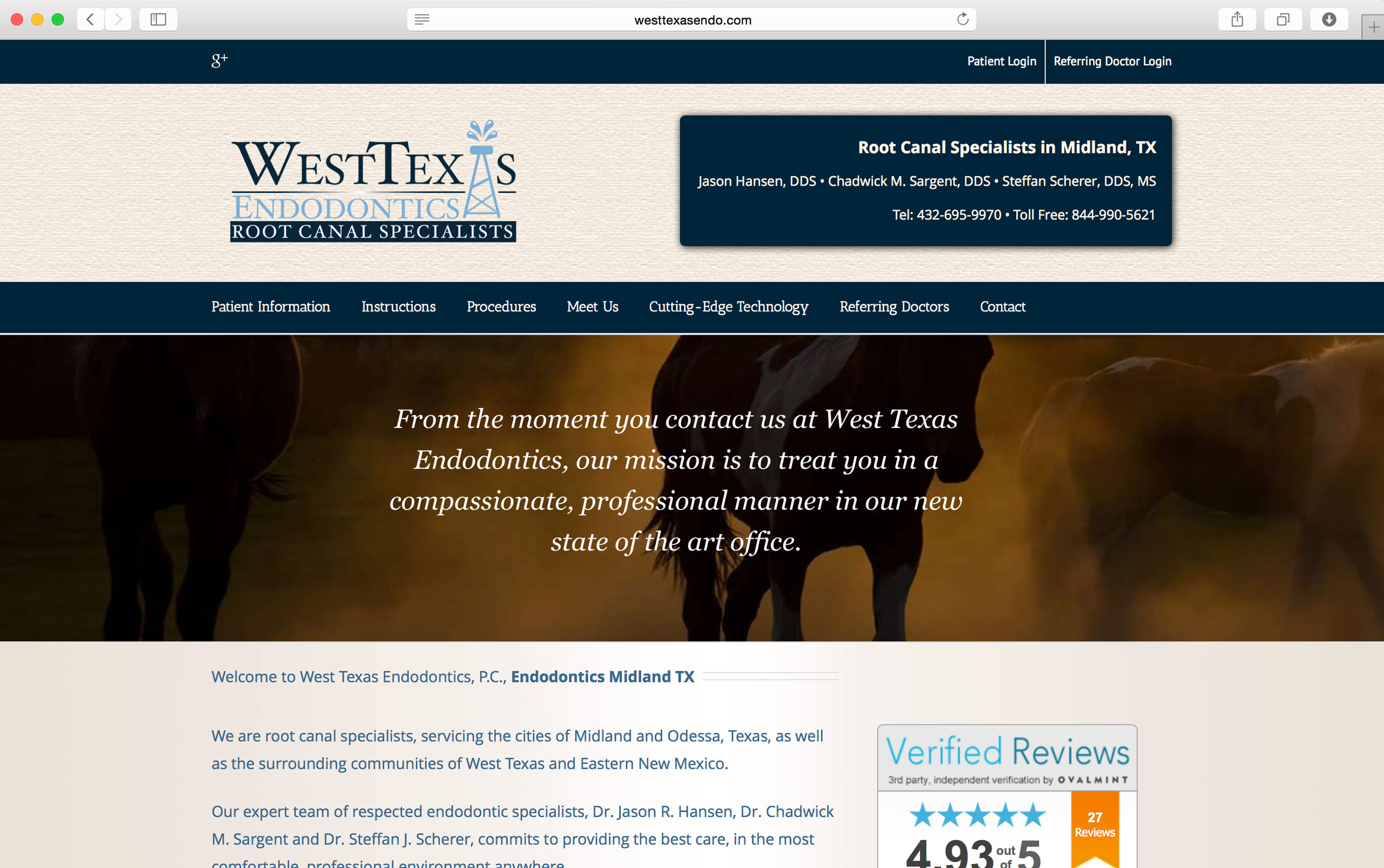 west texas endodontics midland tx - West Website